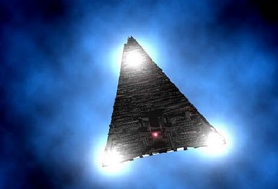 Triangle Craft Does 180 Degree ROLL in Night Sky Trianglewis08