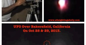 Mysterious glowing UFO in the sky seen in Bakersfield