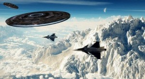 Fighter plane encounters UFO