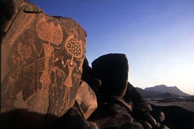 Rock Art possibly created by Space aliens
