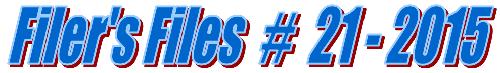 Filers Files #21 - 2015