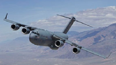 C-17 Globemaster aircraft from McGuire Air Force Base