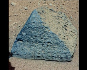 Unusual Mars Rock: Pyramid-Shaped Volcanic Rock Unlike Any Other Martian Igneous Rock Ever Found