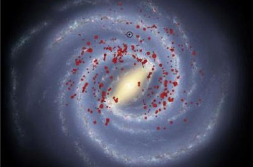 Massive Stars Mark out Milky Way's 'Missing Arms'