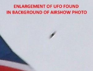 UK UFO photo was taken at Dartmouth Regatta air display 30 Aug 13