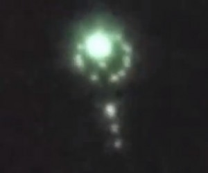 UFO Mothership Over Brazil Dropping Spheres