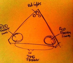 UFO UK drawing Triangle