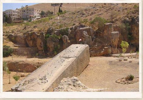 "Located at Baalbek in Lebanon are the largest megalithic stones ever carved from the ""living"" rock of a quarry."