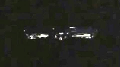 Close up UFO over Kansas