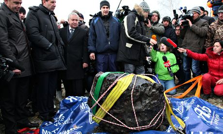 chunk of the Chelyabinsk meteor in Russia in 2013.
