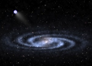 artist's conception of a hypervelocity star