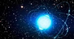 This artist's impression shows the magnetar
