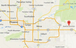 Apache Junction, AZ map