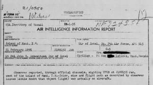 1956 Maui UFO Sighting Report