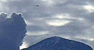 UFO in the vicinity of the Popocatepetl volcano
