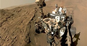 The rover Curiosity on the surface of Mars