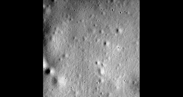 The final image from the MESSENGER spacecraft sent April 30, 2015.