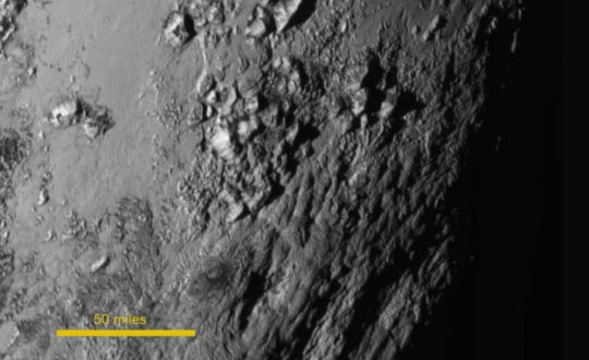 Surface of Pluto. Credit: NASA-JHUAPL-SwRI