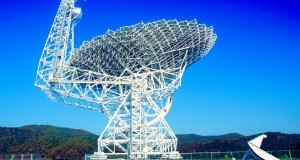 The National Science Foundation's Green Bank Telescope operated by the National Radio Astronomy Observatory. Credit: NRAO/AUI/NSF
