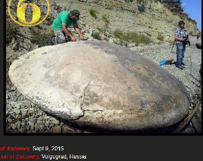 An ancient disc found in Volgograd Region-of Russia on September 9, 2015
