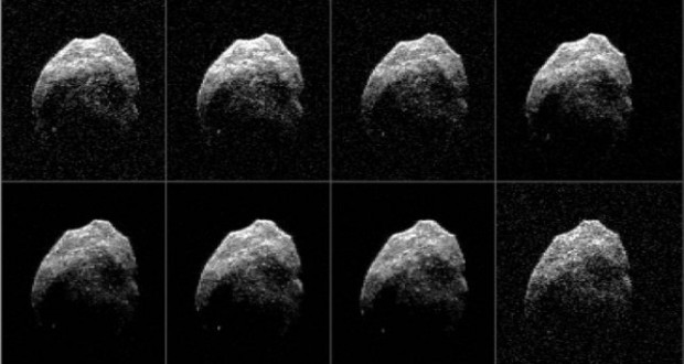 Radar images received by the Green Bank Telescope reveal new details of the surface of asteroid 2015 TB145.
