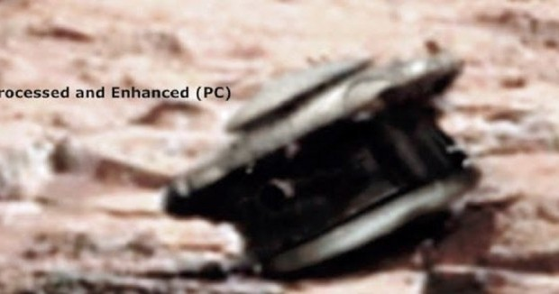 Enhanced Image Of Alleged Crashed UFO Drone On Mars