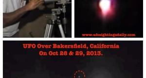 Mysterious glowing UFO in the sky seen in Bakersfield