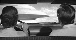 UFO from inside car