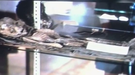 UFO enthusiasts gathered in Mexico to view the 'alien' slides
